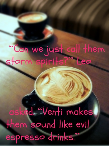 I wouldn't mind fighting evil espresso drinks. Although that would probably turn me off to coffee for several years.