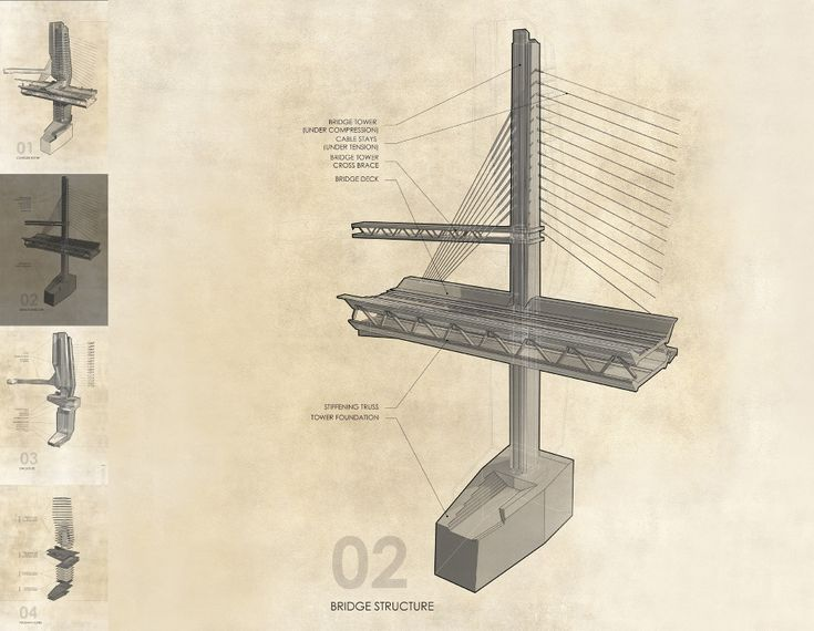 Architectural Drawings Of Bridges 43 best architecture portfolio examples images on pinterest