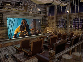 Pirates of the Caribbean themed movie theater.