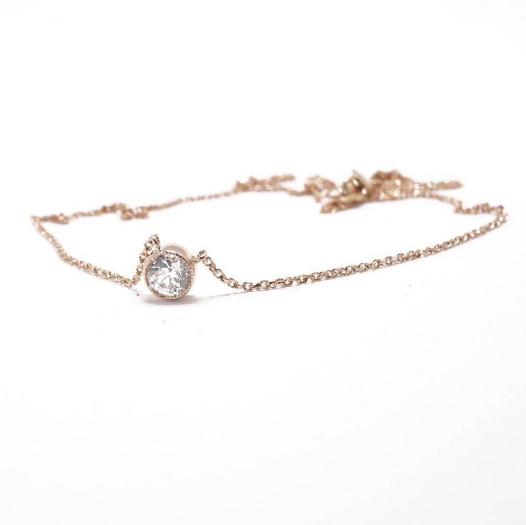 A personal favorite from my Etsy shop https://www.etsy.com/listing/573598844/vintage-diamond-necklace-rose-gold