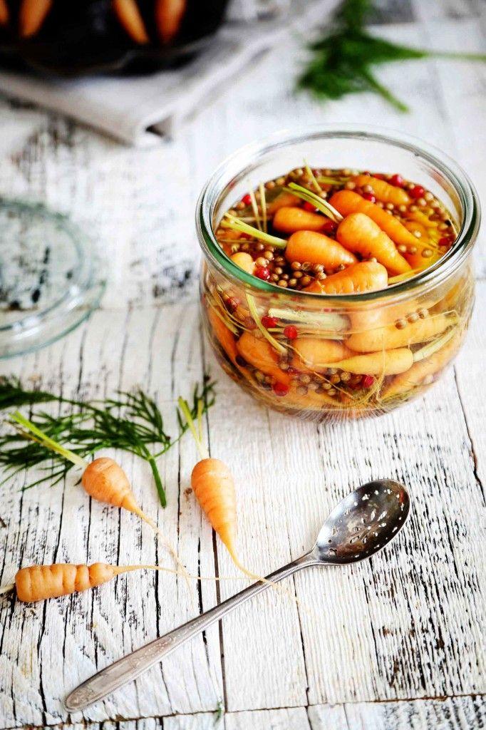 ... pickled mini carrot ...