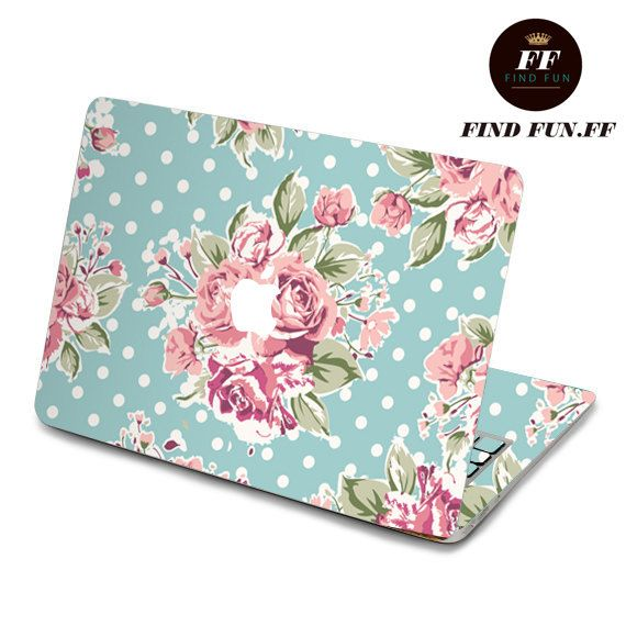 Beautiful Presents For Her Part - 40: Flower Macbook Skin Stickers Sticker Apple Mac Laptop Vinyl Surprise Gift  For Her Him Beautiful