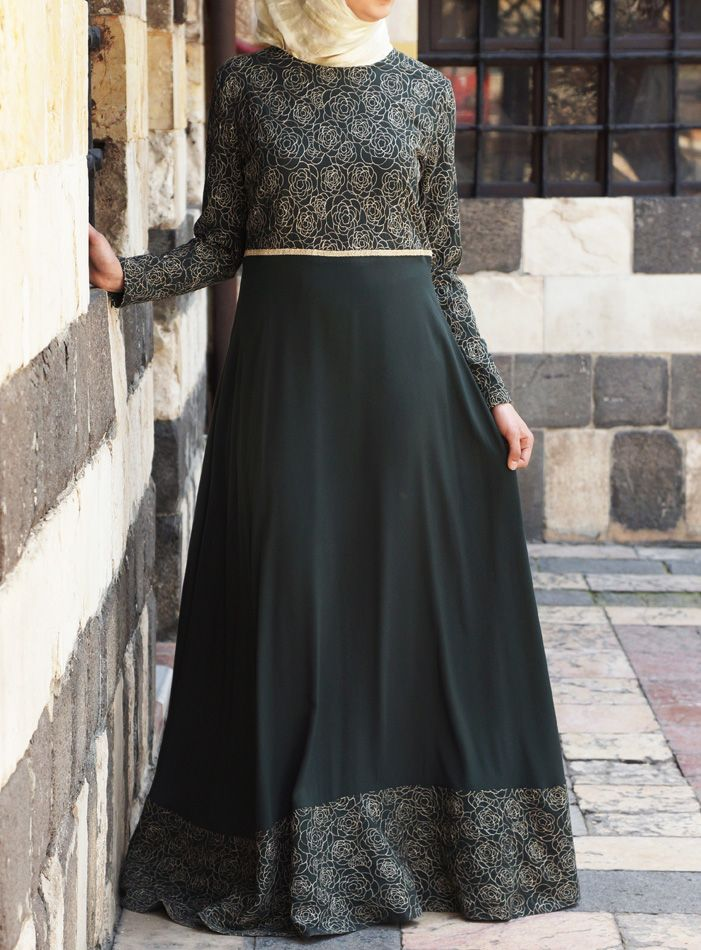 We love the flattering and slenderizing cut of the Sahara Gown. Available at Shukronline.com