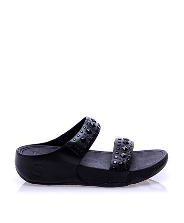 Fitflop Siyah Deri Terlik   #sandalet #düzsandalet #parmakarası #bantlısandalet #parmakarasısandalet #parmakarasıterlik #plajterliği #sandals #fitflop #fashion #trend #style #look #moda #2016modası