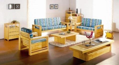 Beautiful Wood Living Room Furniture: China Full Living Room Furniture Set From  Natural European Pine Wood