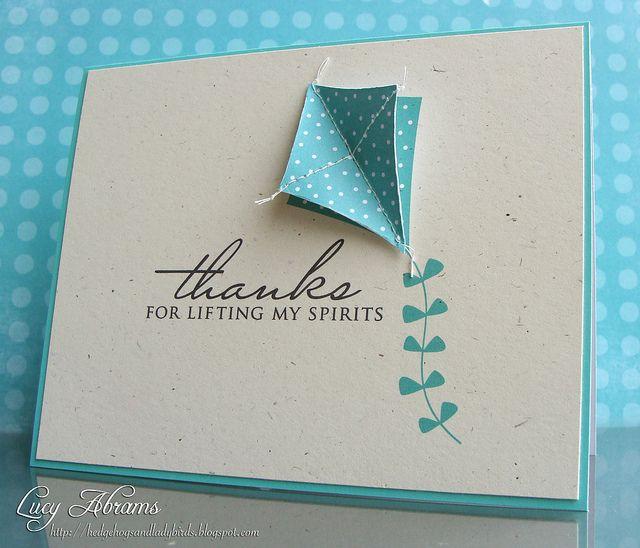 Lifting my spiritsKite Cards, Cards Ideas, Masculine Cards, Greeting Cards, Cards Diy, Cards Crafts, Froggy Friends, Lucy Abrams, 3D Kite