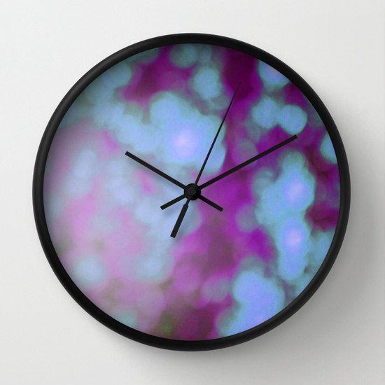 Purple Bokeh Clock  Wall Clock  Photography  by ShelleysCrochetOle