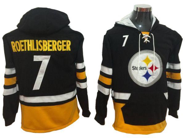 Pittsburgh Steelers Lacer - Ben Roethlisberger Black Pullover