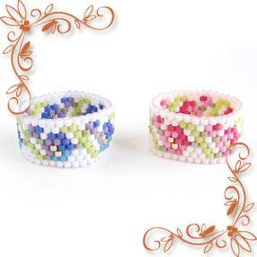 小花柄のリング