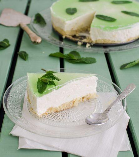 Tarta de mojito para #Mycook http://www.mycook.es/receta/tarta-de-mojito-2/
