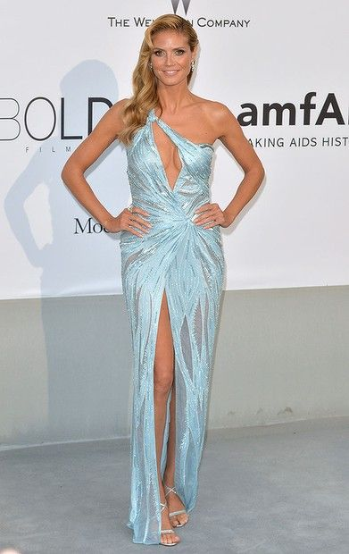#HeidiKlum attends amfAR's 21st Cinema Against AIDS Gala, Presented By WORLDVIEW, BOLD FILMS, And BVLGARI at the 67th Annual Cannes Film Festival on May 22, 2014.