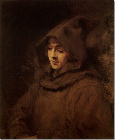 Titus van Rijn in a Monk's Habit (Titus en Habit de moine), 1660, Rembrandt van Rijn