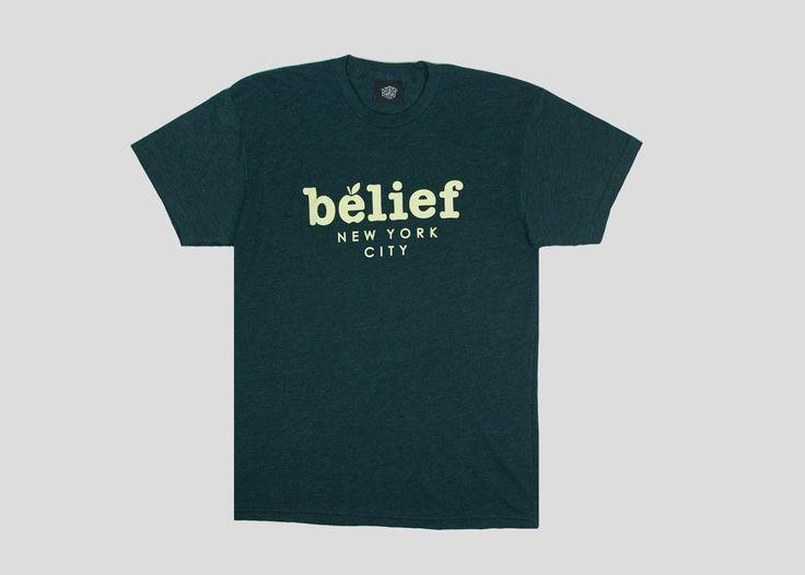 Market T-shirt in black aqua from Belief New York City now on lokalshirt.com