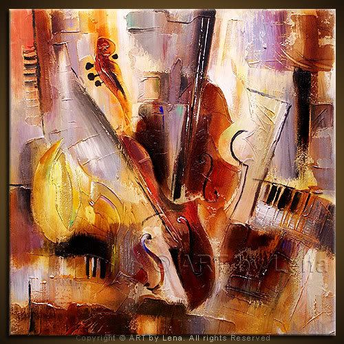 Music Instruments Painting Quot Body And Soul Quot Art By Lenna