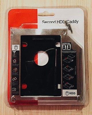 9.5mm Second SSD HDD Hard Drive UltraBay SLIM Caddy Module For Lenovo Y400 Y500