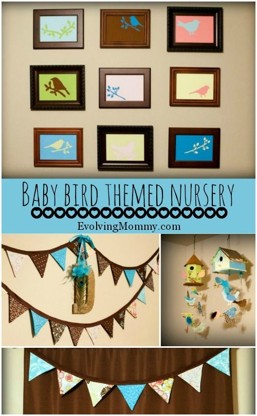 Simple touches to make a baby bird themed nursery