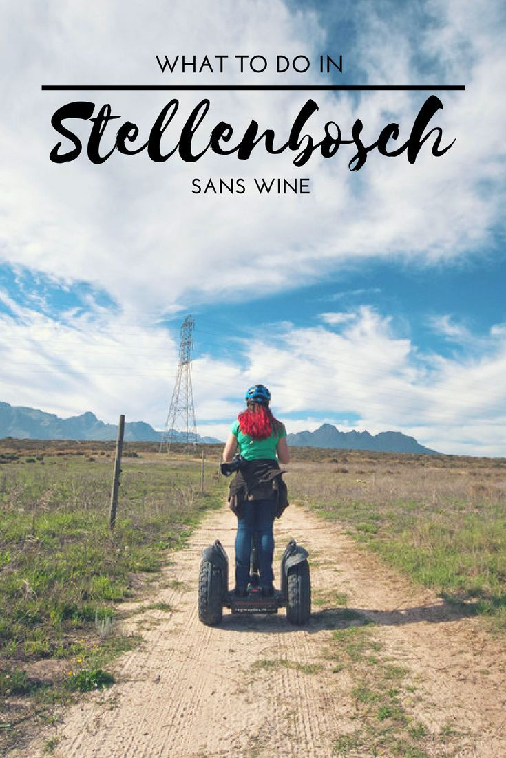 There are things to do in Stellenbosch beyond wine? YES, there really is. Look no further foodies, outdoor enthusiasts, families and adventure seekers…