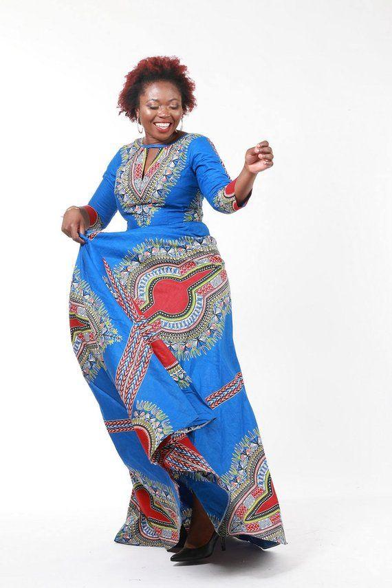 3e29d62cee Angelina maxi dress Dashiki Dress