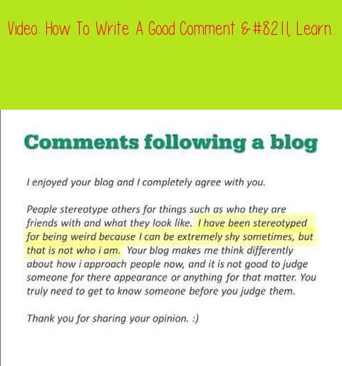 how to write a comment # 7