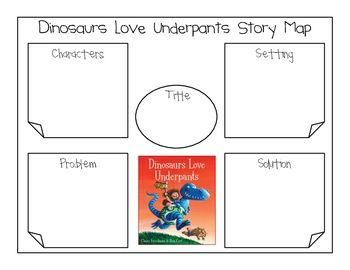 "Dinosaurs Love Underpants ""Underpants Writing Activity"""