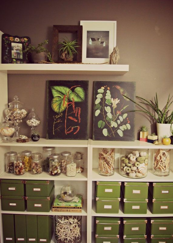 Love this shot of a studio for making terrariums.