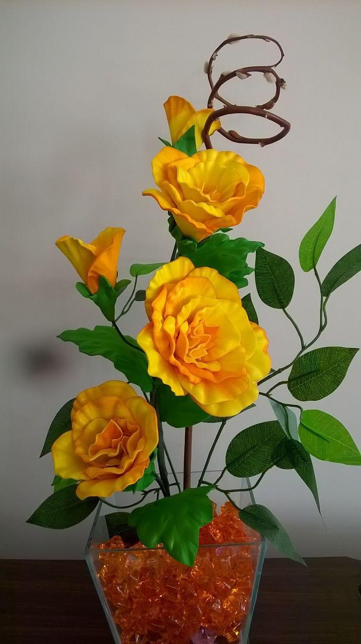 25 melhores ideias sobre flores em eva no pinterest