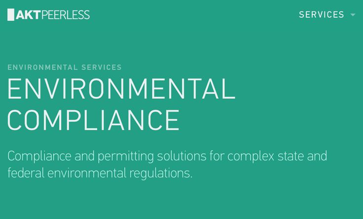 We reduce our clients' risk of costly #environmental #remediation or #regulatory enforcement by coordinating and managing environmental #permitting and #compliance programs.  Key Services Comprehensive Environmental Compliance Audits with an in-depth report of a facility's environmental compliance status and recommendations to achieve compliance in each regulatory area. http://www.aktpeerless.com/services/environmental/environmental-compliance/