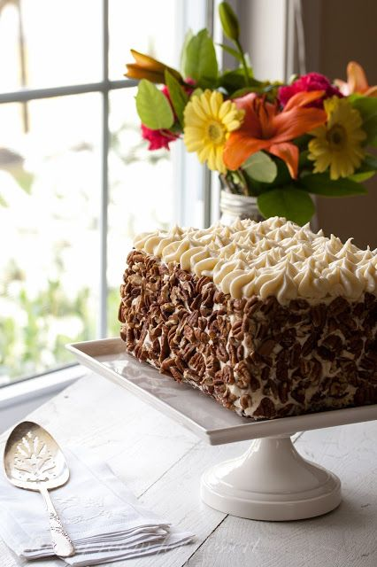 Carrot Cake - a delicious classic cake with cream cheese icing and ...