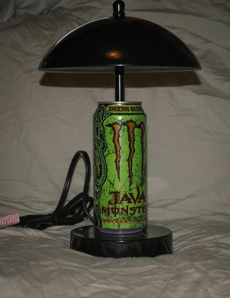 Irish Java Monster Energy Drink Touch Lamp Reduce Reuse