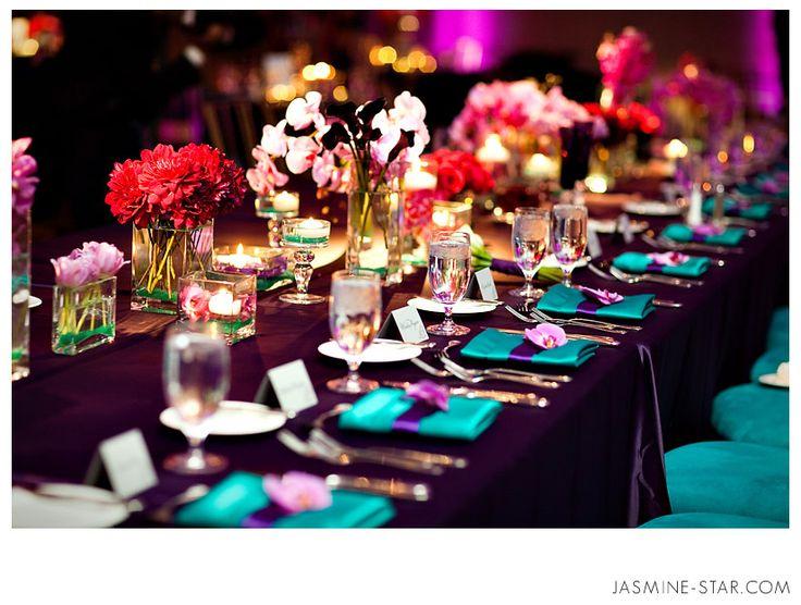 Table Setting Wedding Pinterest Wedding Purple