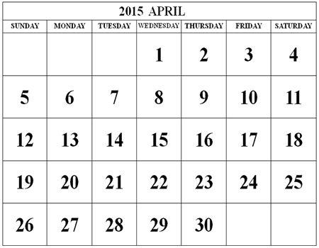 23 Best April 2015 Calendar Images On Pinterest Printable Stencils