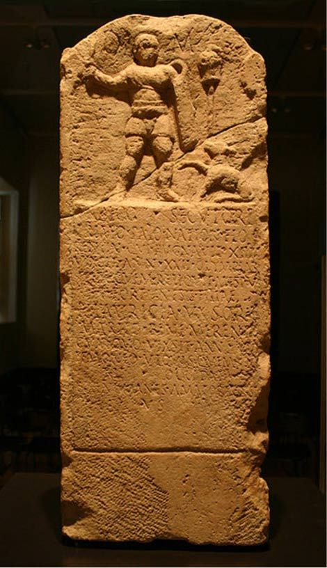 Stele for the gladiator Urbicus, from Florence