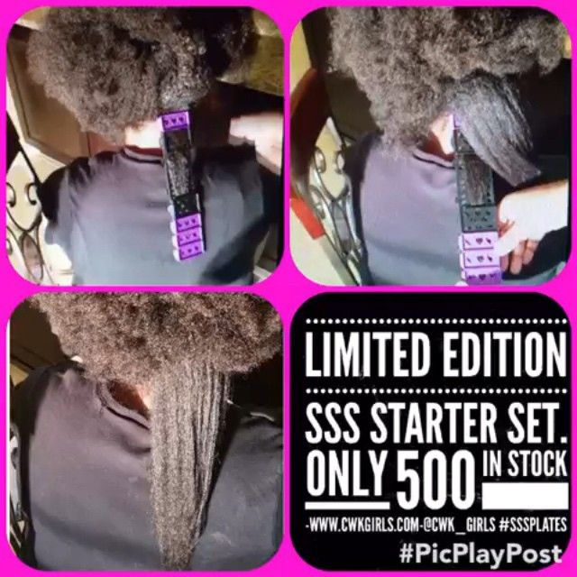 Want to STRETCH your hair without causing damage from direct heat? Then u need The SSS Starter Set. Snap together purple and black plates.... Apply your favorite setting lotion and STRETCH your hair down smoothly on the plates.We only have 500 sets in stock, so if you would like to purchase please visit our website and get your order in today: www.cwkgirls.com. We are currently running a holiday special!!! All customers who purchase SSS Starter Set before January 1st will get $6.00 off the…