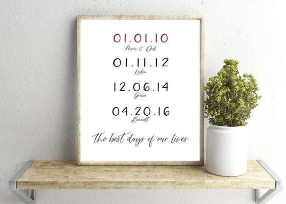 The Best Days Of Our Lives Wall Art Anniversary Etsy Monogram Wall Art Personalized Wall Art Nursery Prints