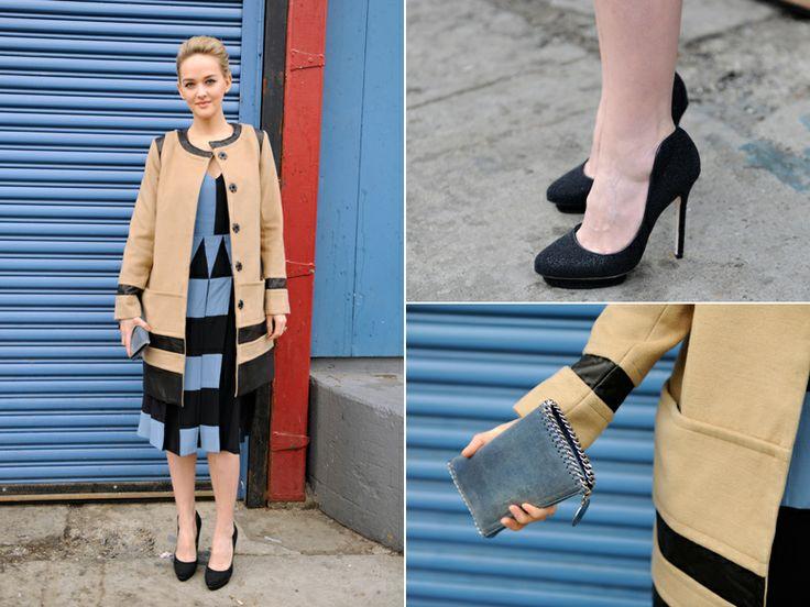 Clothes: Giulietta, Bag: Stella McCartney