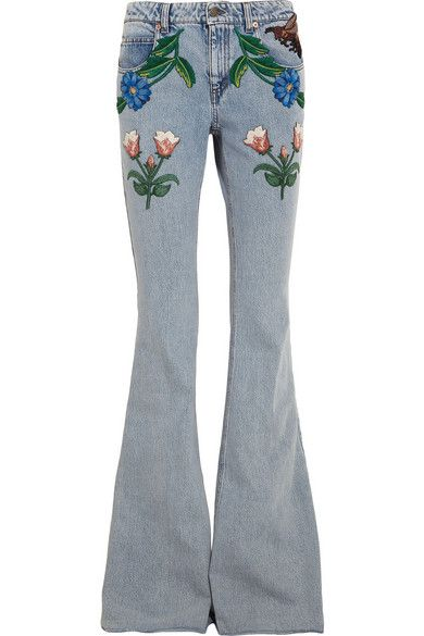Embroidered Jeans Huge denim trend Summer Fall