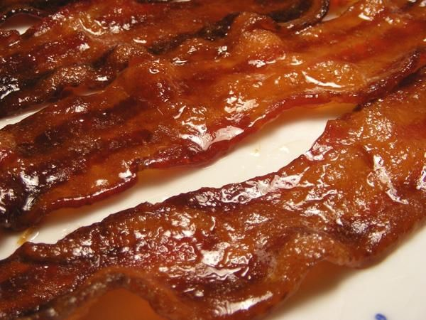Candied Bacon from Food.com: Bacon cooked in the oven (my preferred ...