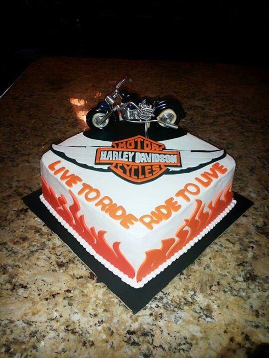 harley davidson birthday cake for randy cake decorating community