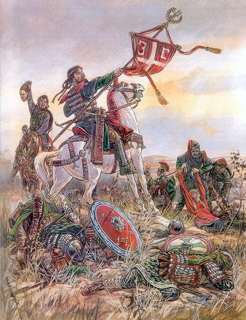 """The Seljuk Turks defeat the Byzantine army at the Battle of Manzikert in 1071"""