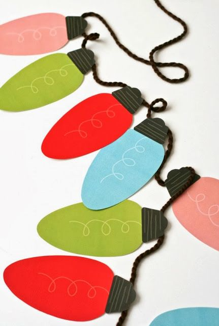 These are really cute....Jumbo Christmas Light Garland....printable