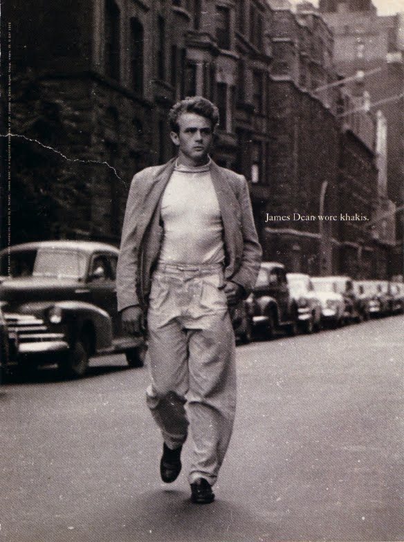 """James Dean wore khakis.""  Gap ad, 1993"