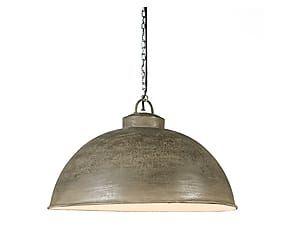 Hanglamp Ravi Rough, grijs/bruin, Ø 47 cm (via WestWing)