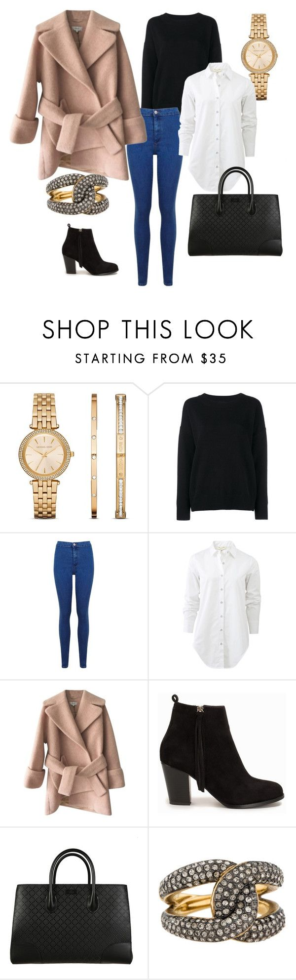 """""""Untitled #26"""" by klara-kandare ❤ liked on Polyvore featuring Michael Kors, Frame Denim, Miss Selfridge, rag & bone, Carven, Nly Shoes, Gucci, women's clothing, women and female"""