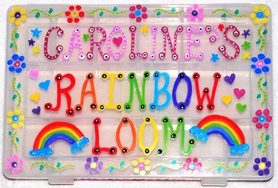 Personalized DELUXE medium Rainbow Loom Case by AllisonsLoomCases