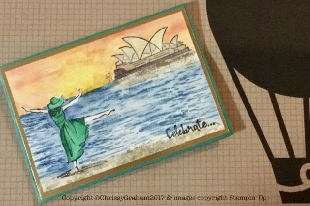 Don't you just love this card made with the Beautiful You, Chase your Dreams, High Tide and Whereever You Go stamp sets? Find out what else I shared at Chris's party at www.thecreativeeclectic.com #stampinup #creativeLife #beautifulyou #hightide #whereeveryougo #chaseyourdream #rubberstamping
