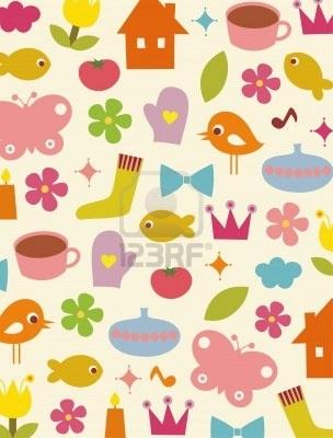 cute elements background design Stock Photo