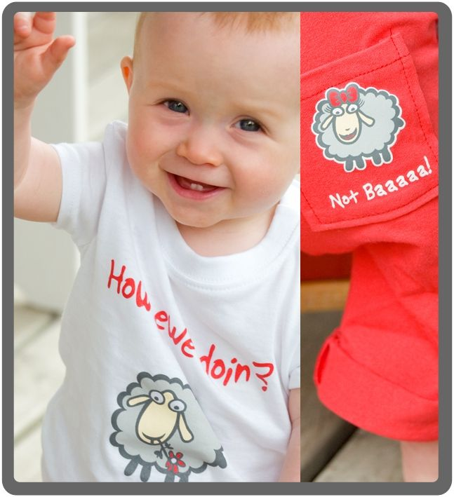 How Ewe Doin? - Baby & toddlers outfit. 100% cotton, proudly made in New Zealand. http://www.thebabycollection.co.nz/products-page/the-baby-collection/how-ewe-doin/