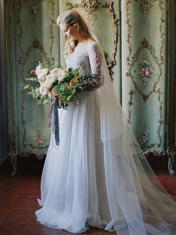 Photography : Laura Gordon Photography | Wedding Dress : Paolo Sebastian | Floral Design : Mary Lennox Read More on SMP: http://www.stylemepretty.com/2016/06/23/italian-destination-wedding-outside-rome/