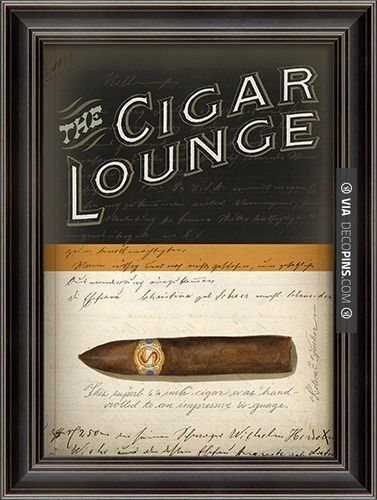 So awesome - Cigar Rooms - #dominomag #pintowin LH The Cigar Lounge - Spicher and Company - $210.00 - http://domino.com | Check out more ideas for Cigar Rooms at DECOPINS.COM | #cigarrooms #cigar #cigars #mancaves #masterbathrooms #bedroom #bedrooms #bathroom #bathrooms #homedecor #beds #interiordesign #home #homedecoration #design