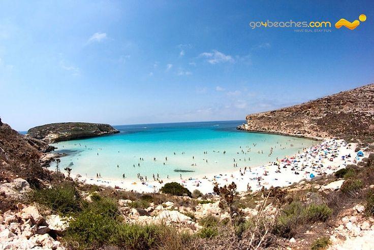 """""""Rabbit Beach"""" in #Lampedusa (Spiaggia dei Conigli for Italians): http://www.go4beaches.com/en/destination.htm?destination=243&t=The+Mediterranean+Sea%3A+Sicily+-+Agrigento%2C+Catania%2C+Messina%2C+Palermo%2C+Syracuse+and+Trapani"""
